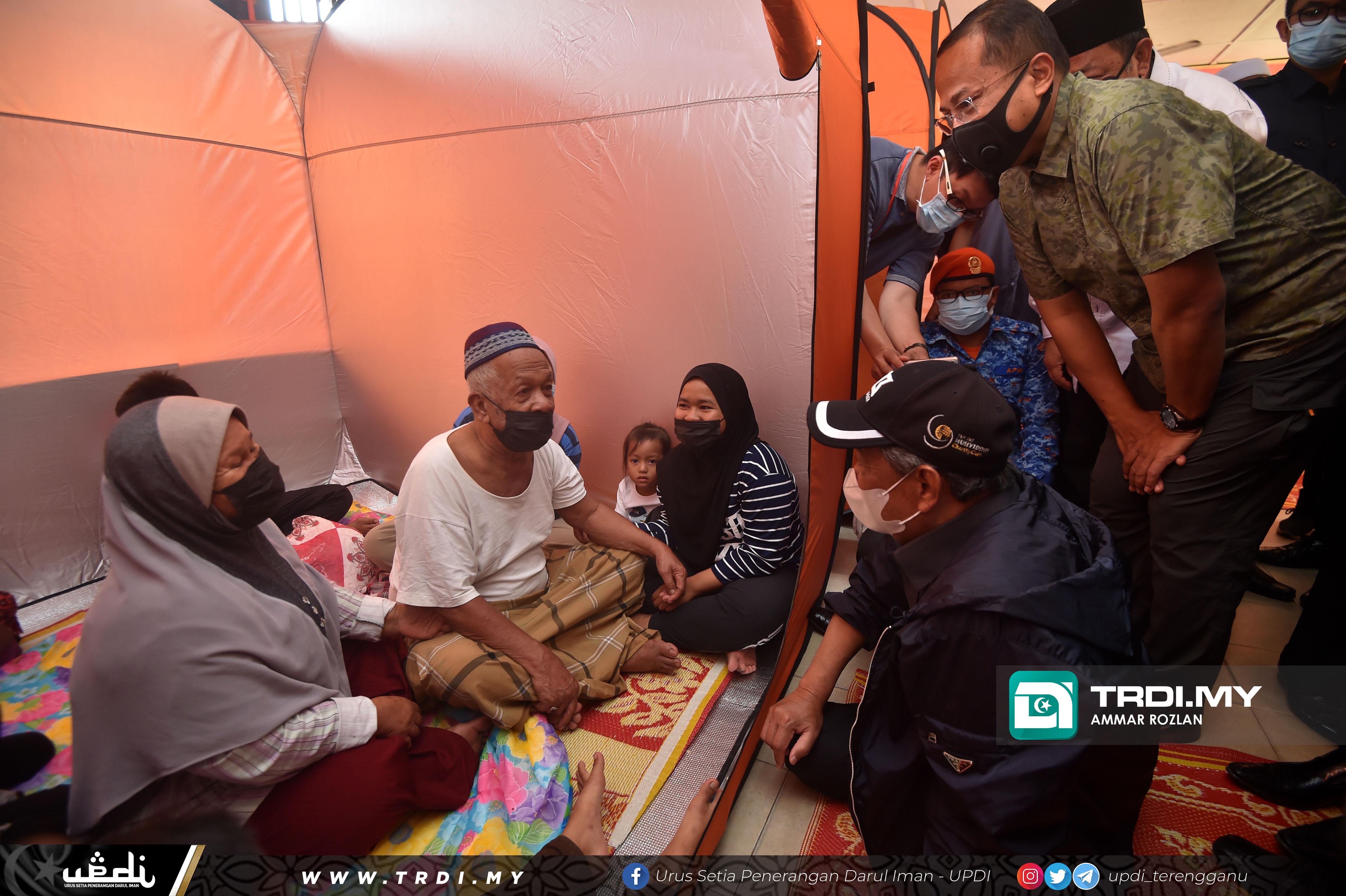 Lawatan Kerja Perdana Menteri, Tan Sri Muhyiddin Yassin Sempena Banjir ke PPS SK Bukit Mentok, Kemaman.