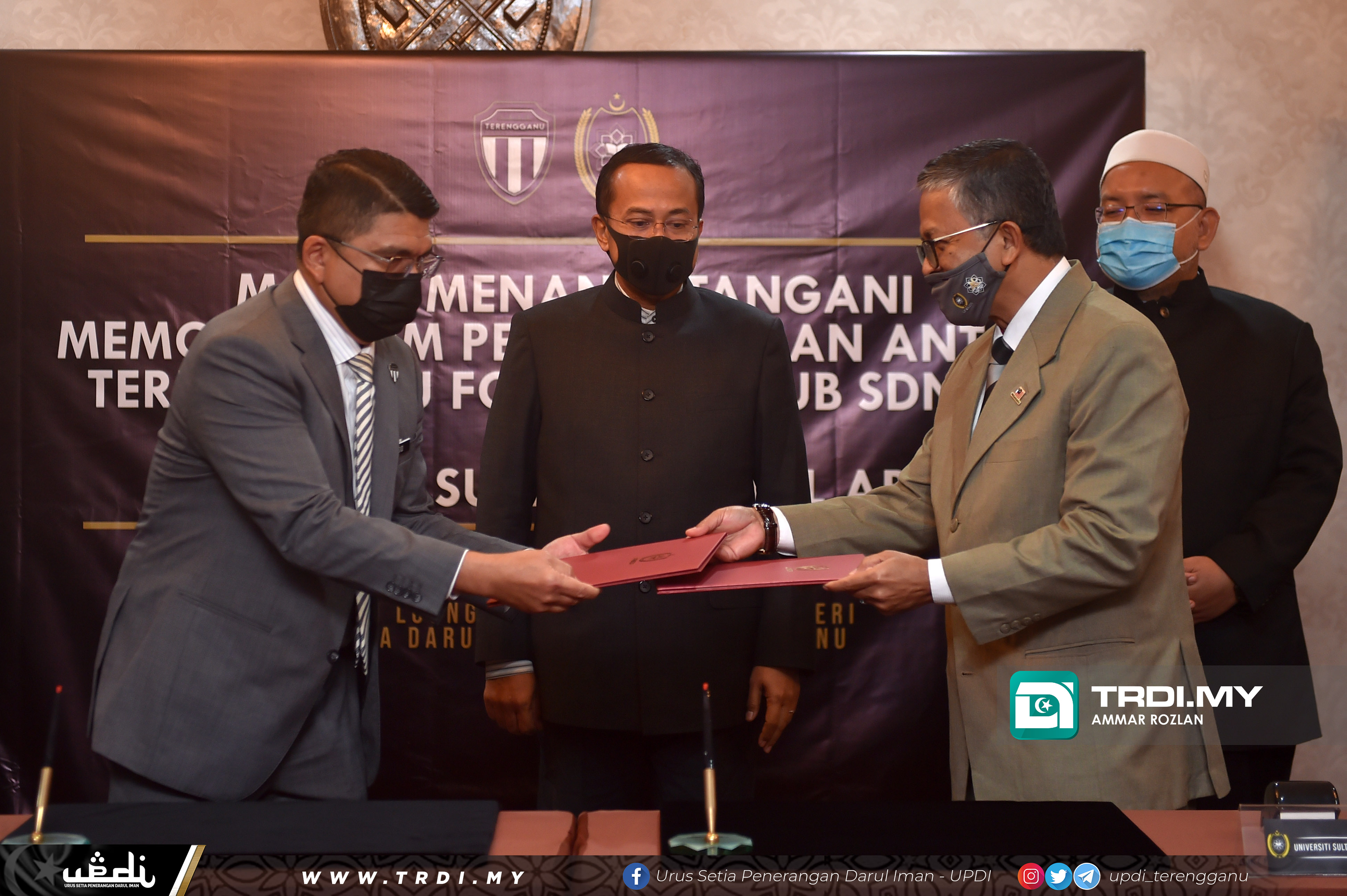 Majlis Menandatangani MOU Antara Terengganu Football Club Sdn Bhd Dan Universiti Sultan Zainal Abidin