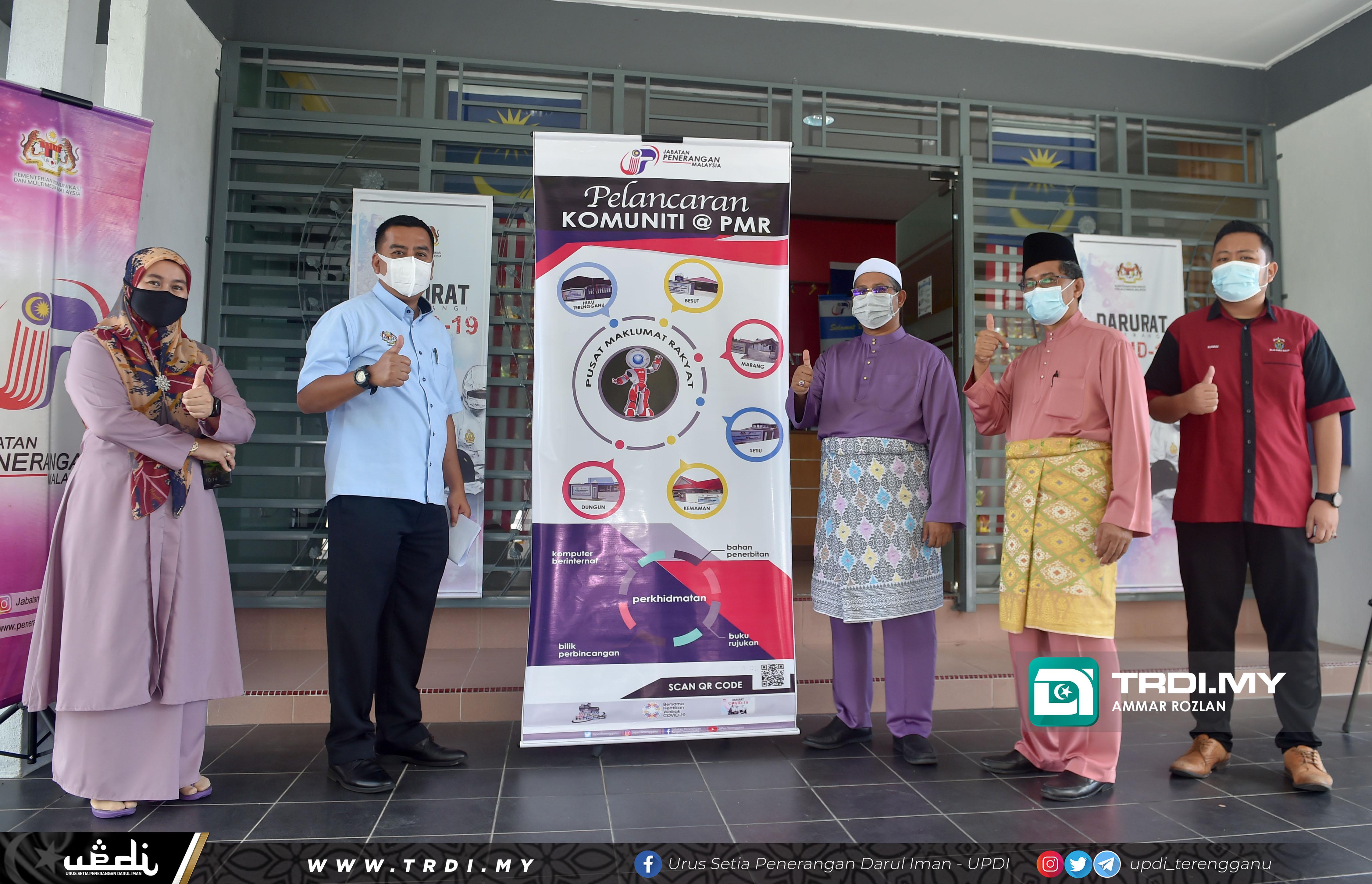YB Ustaz Mohd Nor bin Hamzah, Pengerusi Jawatankuasa Pembangunan Insan, Dakwah dan Penerangan Negeri menghadiri Program Walkabout Pelancaran Komuniti @ PMR Peringkat Negeri Terengganu Tahun 2021.